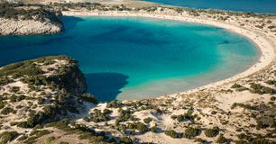 Marvelous beach in Greece. Beautiful view of a Royalty Free Stock Photo