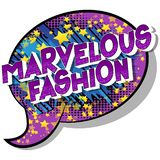Marvelous Fashion - Comic book style words. vector illustration