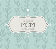 Marvelous Happy Mothers days card in vector. Royalty Free Stock Photos
