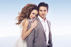 Marvelous lady with her stylish boyfriend Stock Images