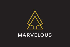 Marvelous Logo Template Design Vector, Emblem, Design Concept, Creative Symbol, Icon Stock Photo