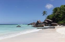 Paradise beach on Silhouette island, Seychelles. Marvelous paradise beach on Silhouette island, Seychelles Royalty Free Stock Photos