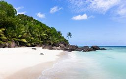 Paradise beach on Silhouette island, Seychelles. Marvelous paradise beach on Silhouette island, Seychelles Stock Images