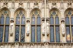 Marvelous sculptural and architectural details of the St.Stephen stock image