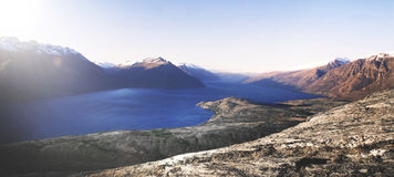 Marvelous View Of Lake Wakatipu And The Mountain Range Royalty Free Stock Photo
