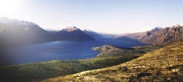 Marvelous View Lake Wakitipu Mountain Range Nature Concept Stock Images