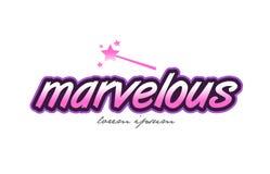 Marvelous word text logo icon design concept idea Royalty Free Stock Photo