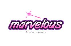 Marvelous word text logo icon design concept idea Royalty Free Stock Photos