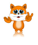Marvin Cat Illustration Toon Cartoon Character Stockfotos