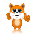 Marvin Cat Illustration Toon Cartoon Character Royaltyfria Foton
