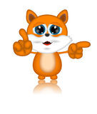 Marvin Cat Illustration Toon Cartoon Character. 3d Royalty Free Stock Photography
