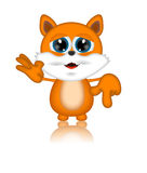 Marvin Cat Illustration Toon Cartoon Character. 3d Royalty Free Stock Images