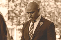 Marvin Rees Bristol Mayor on Remembrance Sunday A Stock Image