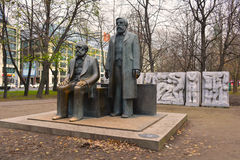 Marx Engels Forum (Memorial) in East Berlin Royalty Free Stock Photography