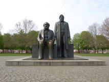Marx-Engels Forum statue Royalty Free Stock Photo