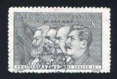 Marx Engels Lenin i Stalin obrazy royalty free