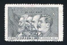 Marx Engels Lenin y Stalin imágenes de archivo libres de regalías