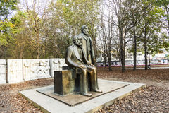 Marx-Engels-Monument in Germany Berlin Royalty Free Stock Photography