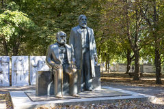 The Marx and Engels monument Royalty Free Stock Photos