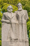 Marx and engels statue in fuxing park shanghai china Royalty Free Stock Photo