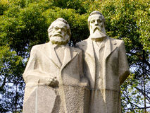Marx-Engels Statue Stock Image