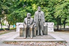 Marx and Engels statues. Marx and Engels statue in Marx-Engels-Forum,  Alexanderplatz, Berlin, Germany Royalty Free Stock Photography