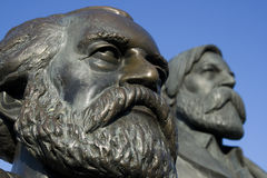 Marx y Engels Fotografía de archivo libre de regalías