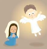 Mary και ο άγγελος Στοκ εικόνα με δικαίωμα ελεύθερης χρήσης