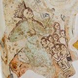 Mary στη νωπογραφία από 14oo τον αιώνα Στοκ Εικόνα
