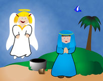 Mary and the Angel Stock Photography