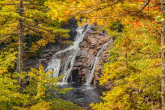 Mary Ann Falls in the fall. (Highlands National Park, Cape Breton, Nova Scotia, Canada royalty free stock photo