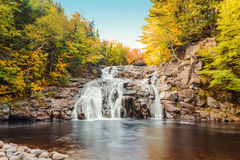 Mary Ann Falls in the fall. Mary Ann Falls (Highlands National Park, Cape Breton, Nova Scotia, Canada royalty free stock photos