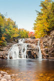 Mary Ann Falls in the fall. (Highlands National Park, Cape Breton, Nova Scotia, Canada royalty free stock photos