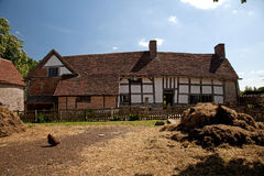 Mary Arden's Farm and house Royalty Free Stock Photos
