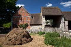 Mary Arden's Farm and house Royalty Free Stock Image
