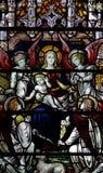 Mary avec le bébé Jésus et quatre anges Photo libre de droits