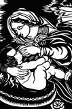 Mary with baby Jesus Stock Photo
