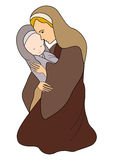 Mary and Baby Jesus Royalty Free Stock Images