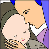 Mary and Baby Jesus Stock Images