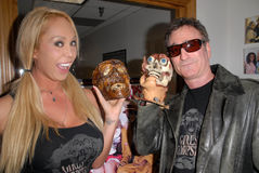 Mary Carey,Robert Rhine. Mary Carey and Robert Rhine  at a signing and radio appearance for Mary Carey's Girls and Corpses Magazine  Issue, LA Talk Radio Stock Photography