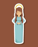 Mary cartoon of holy night design Royalty Free Stock Images