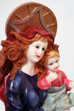 Mary and child. Close-up Stock Photo