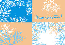 Mary christmas background set s Royalty Free Stock Photography