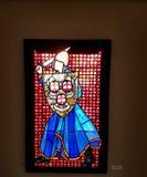 Mary Clerk Higgins-de kunstenaar, beschermt me, kunstvertoning in Washington National Cathedral, Washington DC Royalty-vrije Stock Foto's