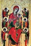 Mary con Jesus e sei angeli Immagini Stock