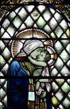 Mary, die Baby Jesus (Buntglas, tröstet) Lizenzfreie Stockbilder