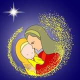 Mary e bambino Jesus Fotografia Stock Libera da Diritti