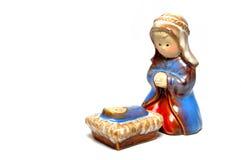 Mary e a criança de Cristo no fundo branco Imagem de Stock Royalty Free