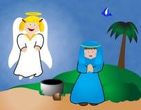 Mary e l'angelo illustrazione vettoriale