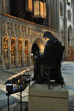 Mary en Christus, Kathedraal Ripon Stock Foto's